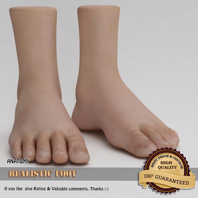 3d model foot realistic