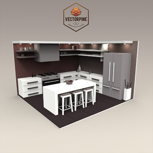 Low Poly Interiors - Kitchen