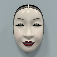 3d model of woman mask