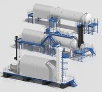 3d model oil refining