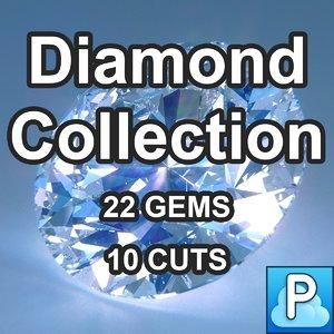 cuts diamonds 3d model
