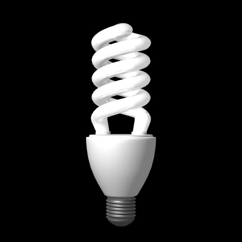 3d energy saving lamp model
