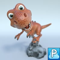 Cartoon t-rex