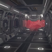 set sci-fi spaceship building interiors 3d fbx