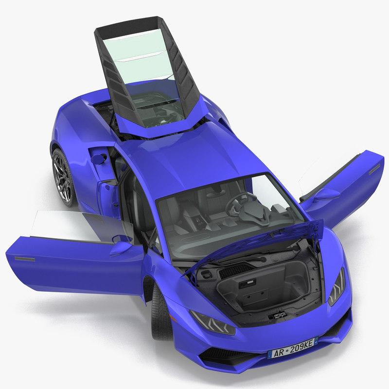supercar rigged 3d model