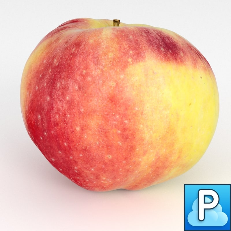 3d model of apple