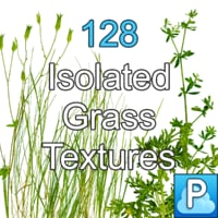Isolated grass textures