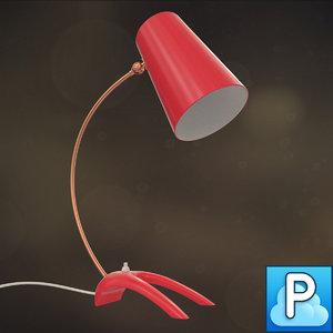 vintage lamp 1970s obj