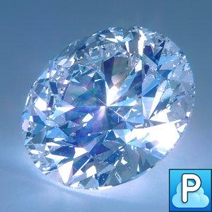 3d model cut diamond
