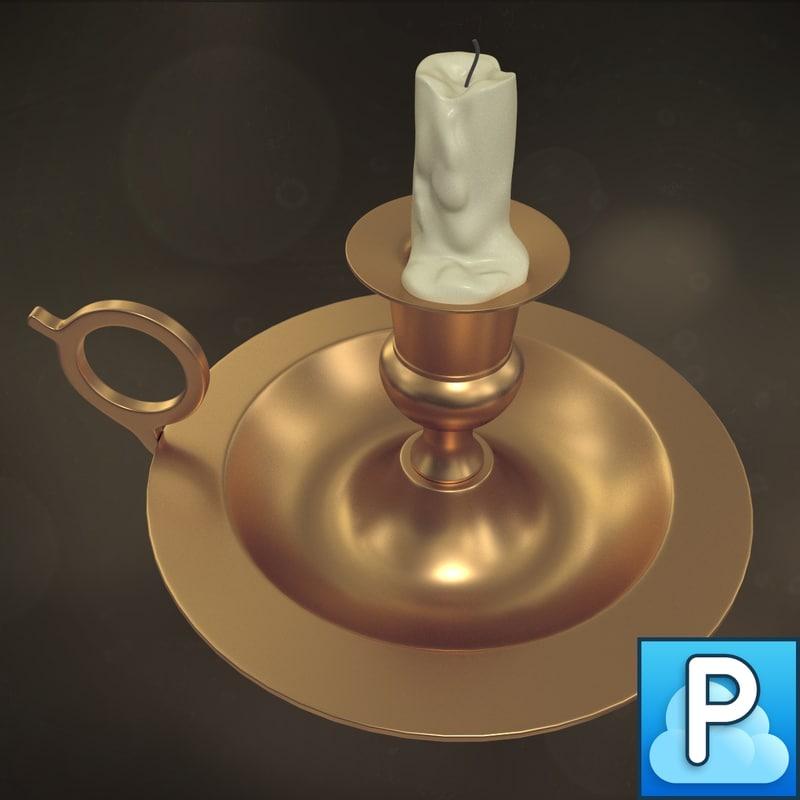 old candlestick 3d model