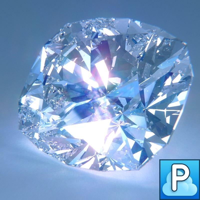 obj diamond cushion cut