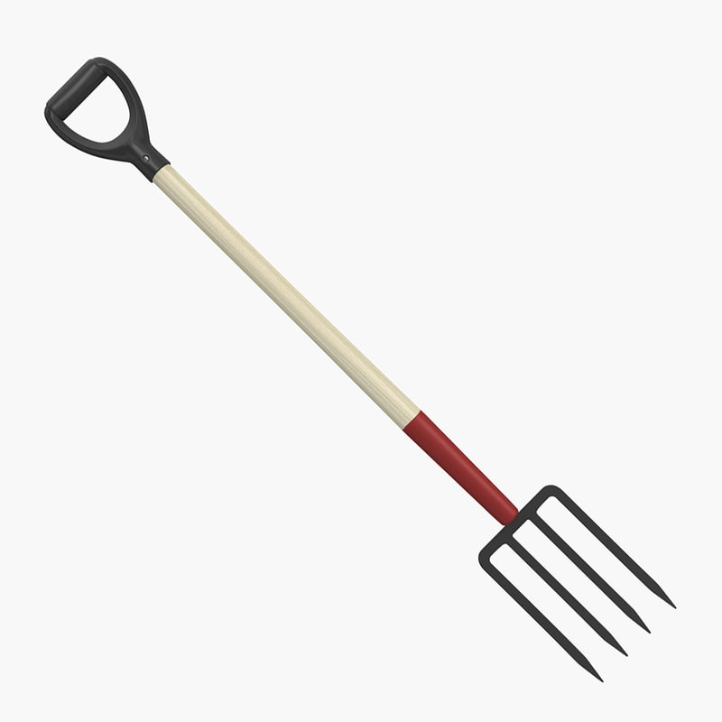 3d model garden fork for Gardening tools 3d model