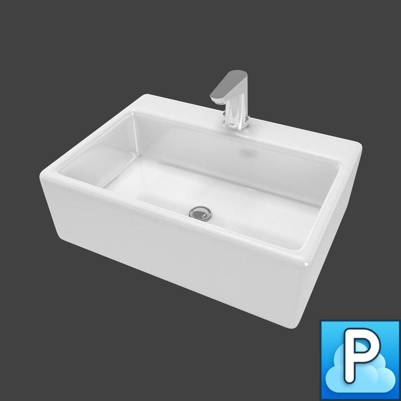 3ds max sink faucet