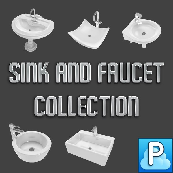 sinks faucets pack 3d 3ds