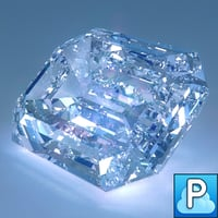 diamond emerald cut obj