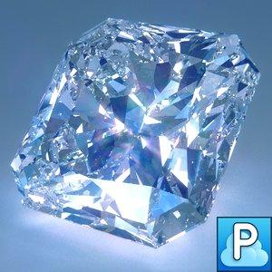 diamond radiant cut obj