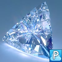 diamond trillion cut 3d obj