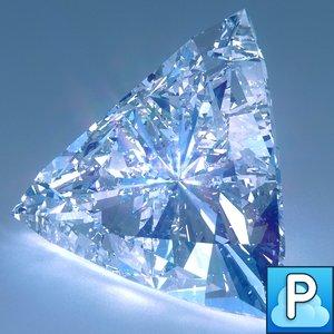 diamond trillion cut 3d obj