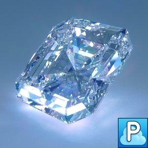obj asscher cut diamond