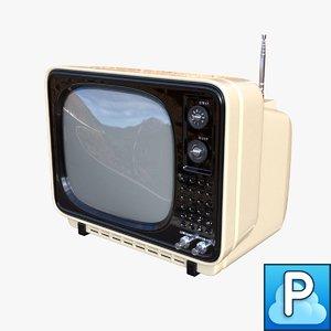 vintage tv obj
