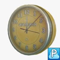 ready vintage wall clock 3d obj