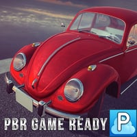 Beetle car game ready
