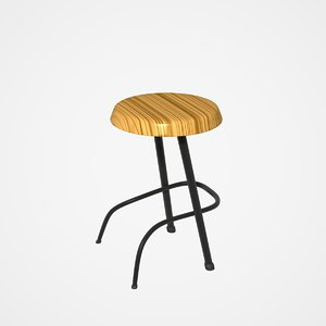 stools wall table 3d dxf