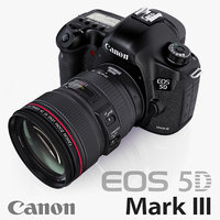 3d model canon eos 5d mark iii