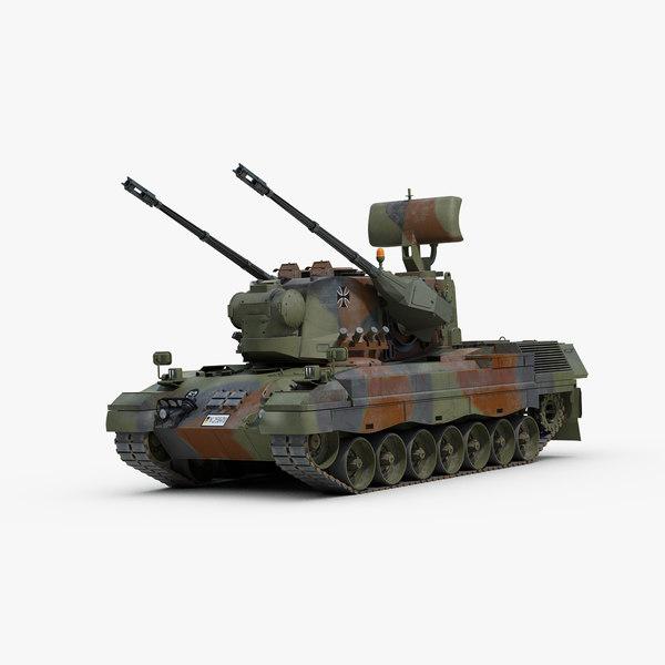 3d modern gepard 35mm anti model