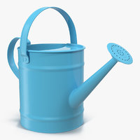 Kids Watering Can Blue 3D Model