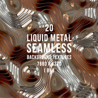 20 Liquid Metal Seamless Background Textures