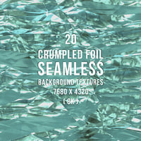 20 Crumpled Foil Seamless Background Textures