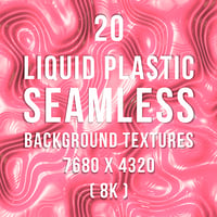 20 Liquid Plastic Seamless Background Textures