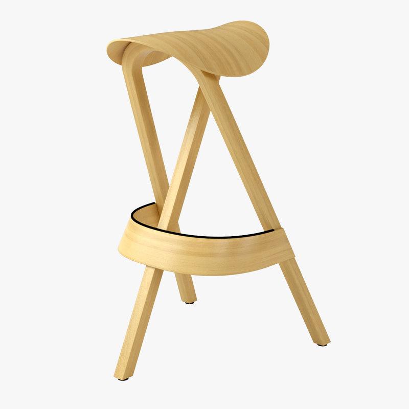 3d model thonet 404h stool