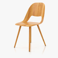 3d model vitra jill wood chair
