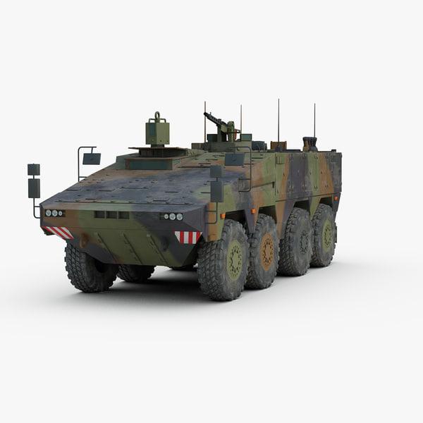 modern boxer mrav military vehicle 3d max