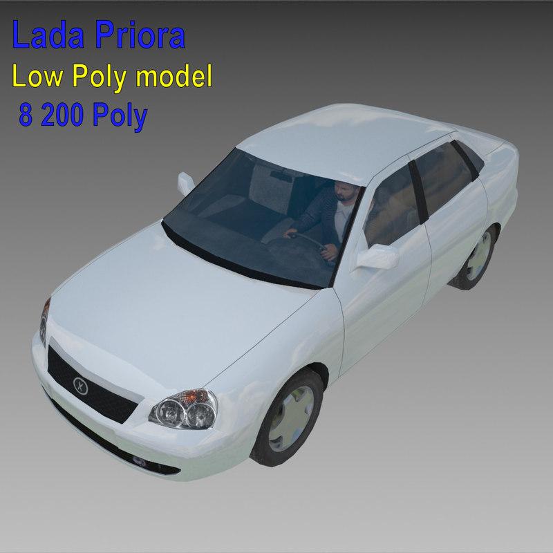 3d lada priora model