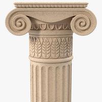 3d model of ionic order column