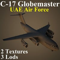 3d boeing uae military transport model