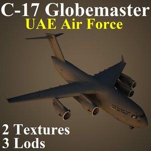 3d boeing uae military transport model