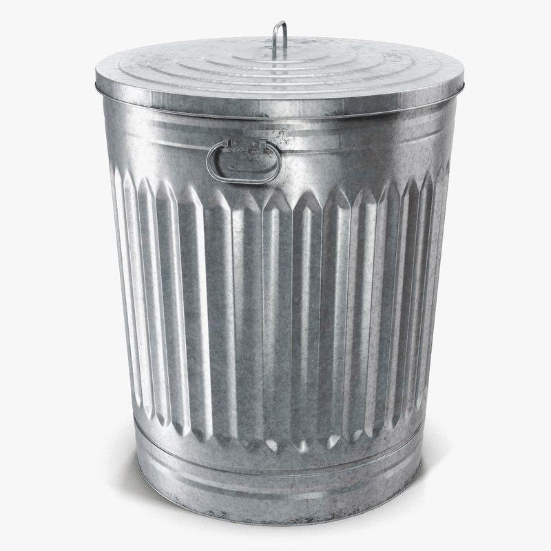 Galvanized Steel Garbage 3d C4d