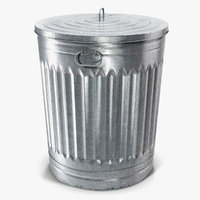 Galvanized Steel Garbage Can