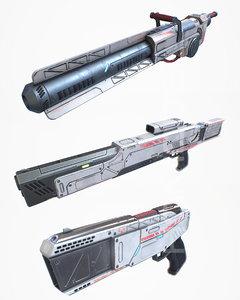 3d laser cannon gun pbr