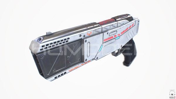 light laser pistol gun fbx