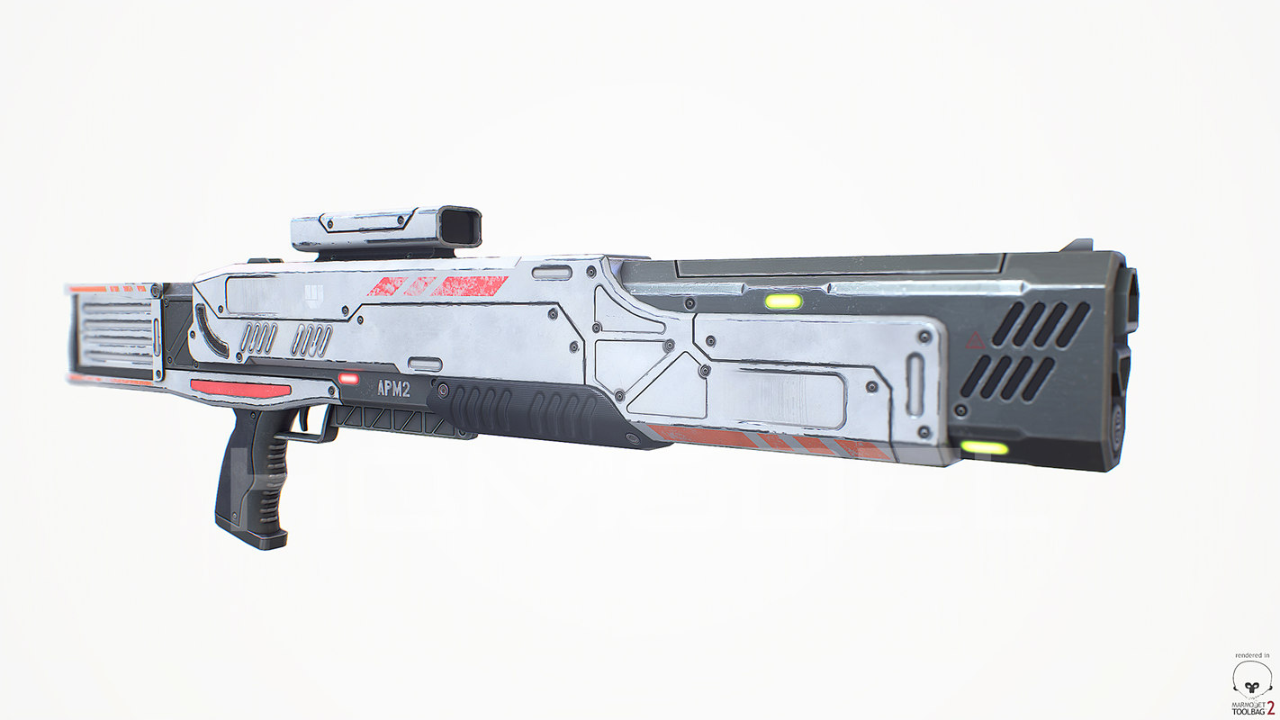 3d model medium laser rifle gun