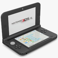 Nintendo 3DS XL Black 3D Model