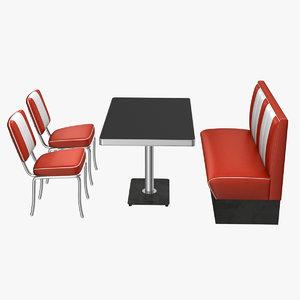 3d model 50 s style diner