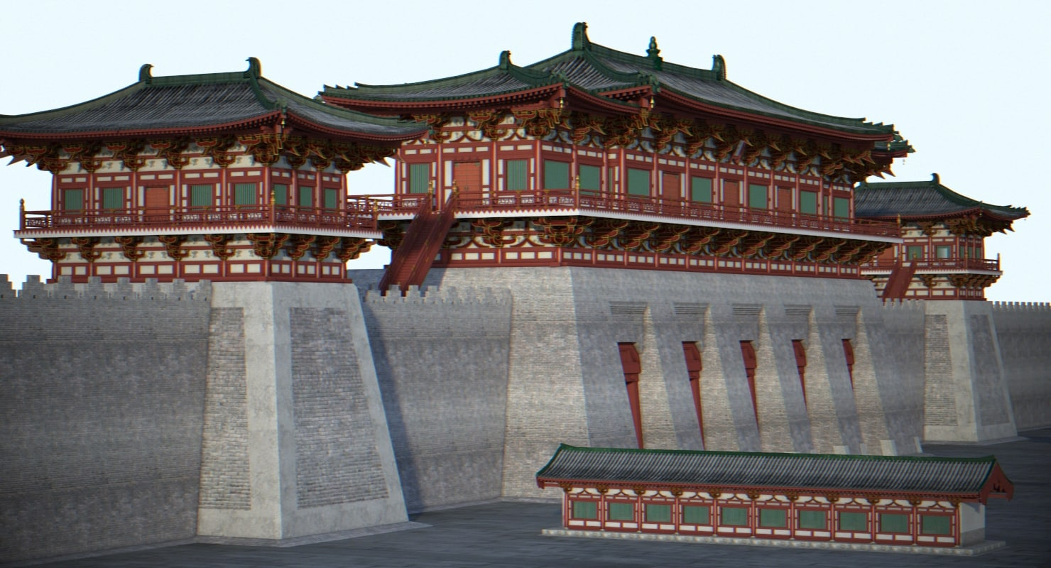 chinese architectural ancient 3d model
