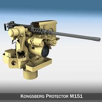 3d model kongsberg protector m151 rws