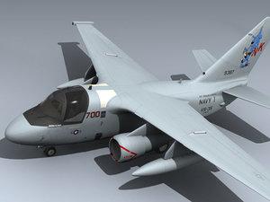 3d model s-3b viking navy 1